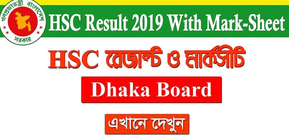 HSC Result 2019 Dhaka Education Board Online, SMS & Marksheet