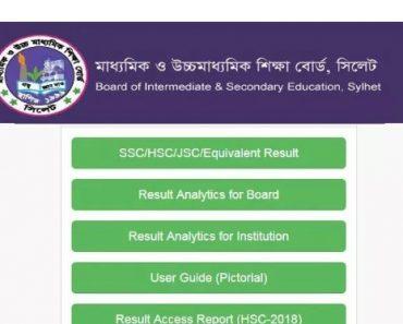 HSC Result 2020 Sylhet Board