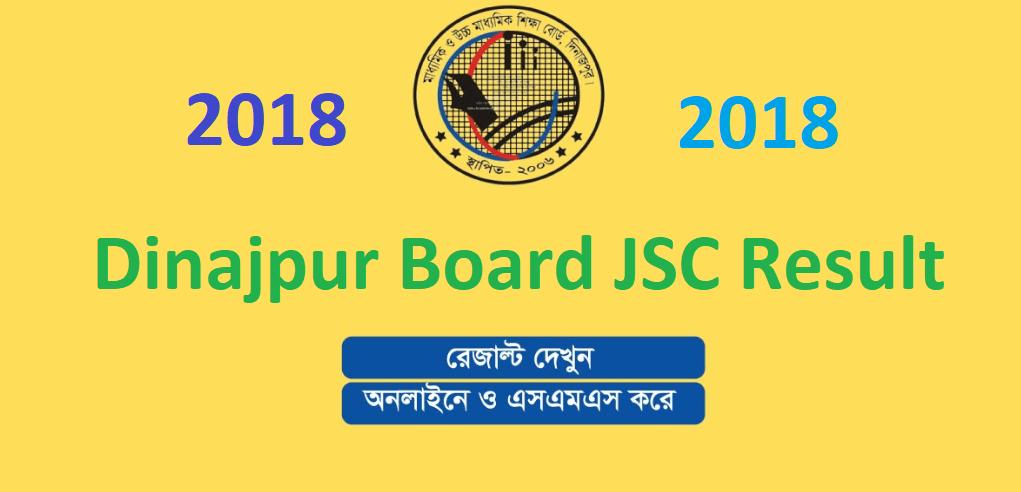 Dinajpur Board JSC Result 2018