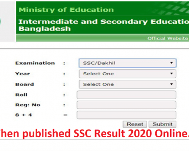 When published SSC Result 2020 Online.