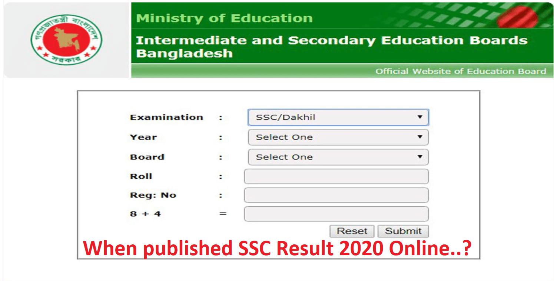 When published SSC Result 2020 Online.