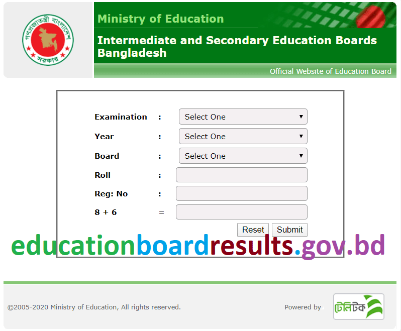 educationboardresults gov bd