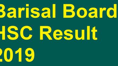 Barisal Board HSC Result 2019