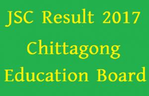 JSC Result 2017 Chittagong Education Board