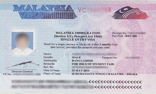 Malaysia Visa By Using Only Passport Number