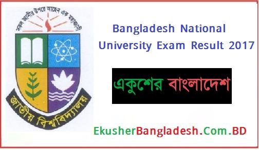 NU Exam Result 2017