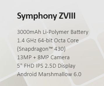 Symphony ZVIIl Price